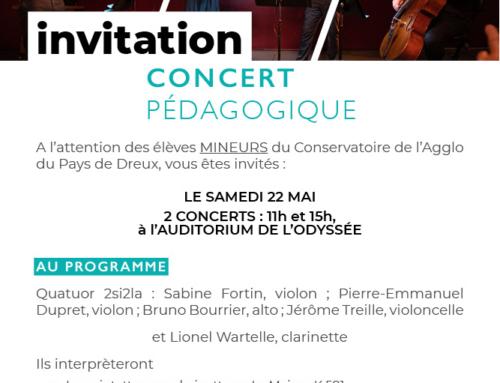 Concert pédagogique du 22 mai